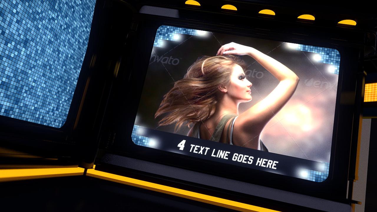 3D高科技屏幕旋转相册AE模板 videohive The Ring